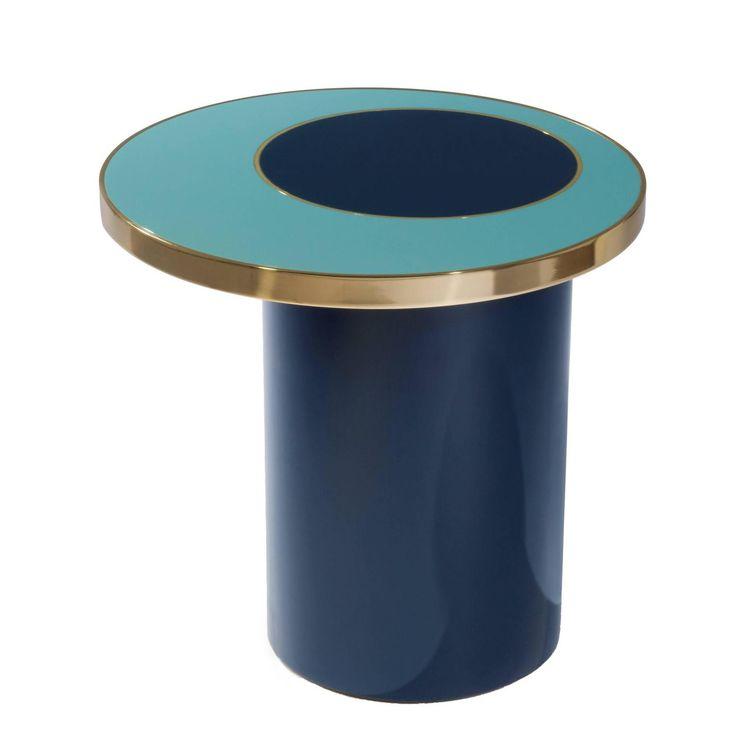 Side Table Nenuphar Blue by Hervé Langlais 1