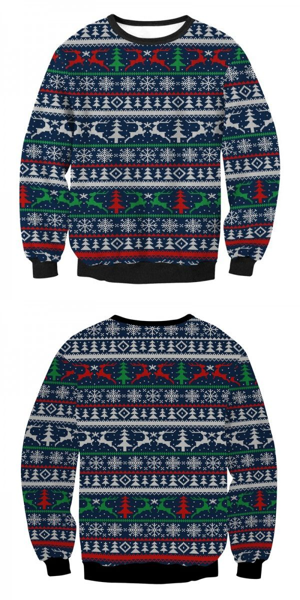 cheap ugly christmas sweaters, unisex reindeer christmas sweaters, tacky womens christmas sweatshirts