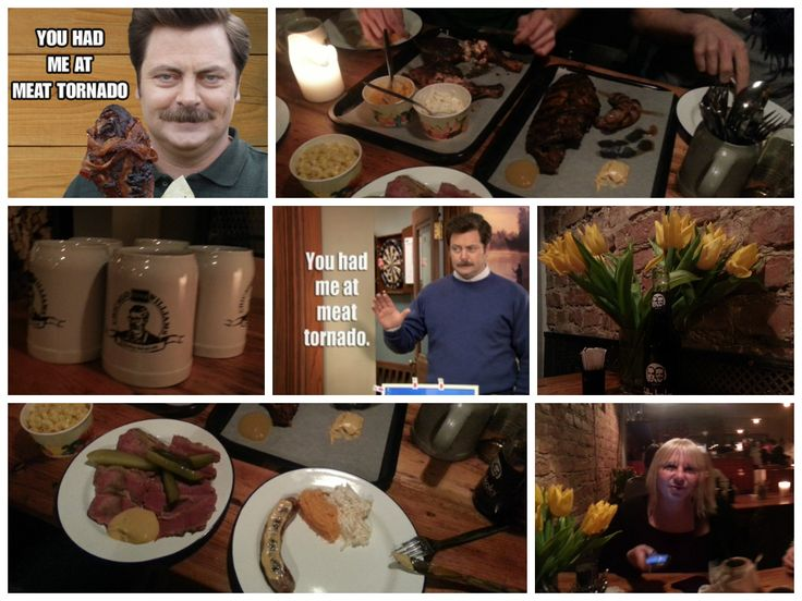 My personal tribute to meatlover #Ron #Swanson..we had our meat tornado at #ChicagoWilliamsBBQ in #Berlin