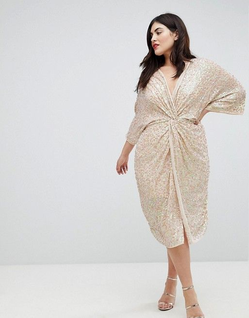 40 Plus Size Spring Wedding Guest Dresses {with Sleeves