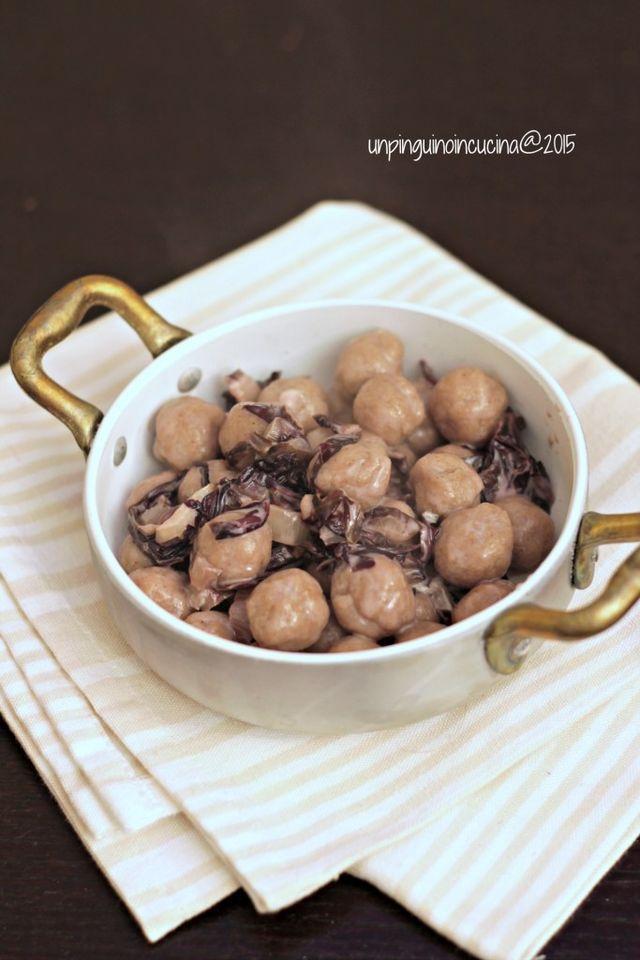 Gnocchi alla farina di castagne con radicchio e gorgonzola | Un Pinguino in cucina | Bloglovin'