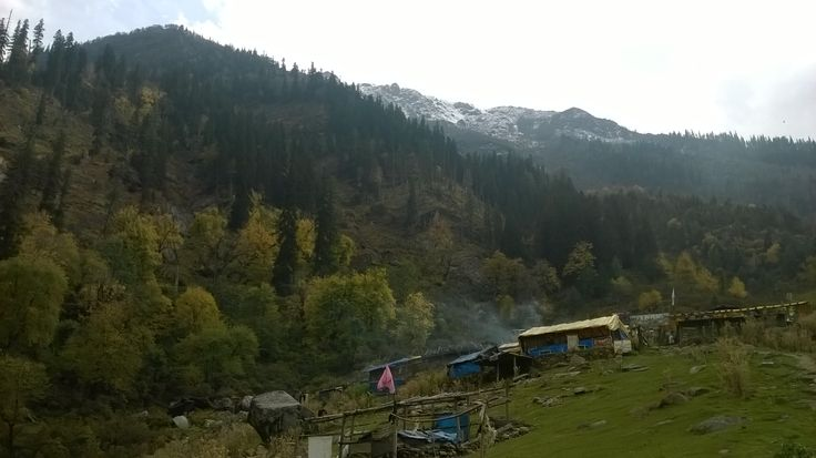 KheerGanga a holy place with natural hot water springs in Kullu district of Himachal Pradesh.