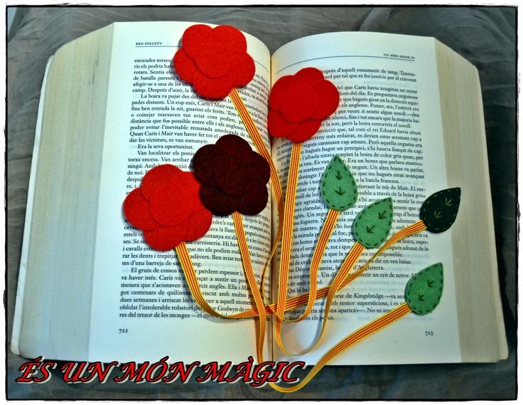 Puntos de libro de rosas para #SantJordi