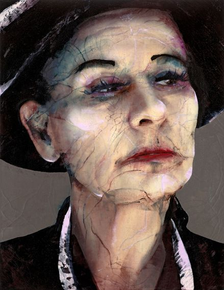 Lita Cabellut, Coco #23, 260x200cm, mixed media, 2011