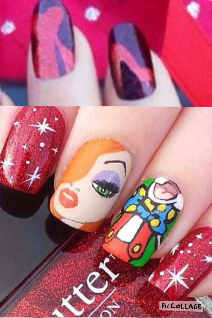 Awesome Jessica Rabbit Nails Ornament - Nail Art Ideas - morihati.com