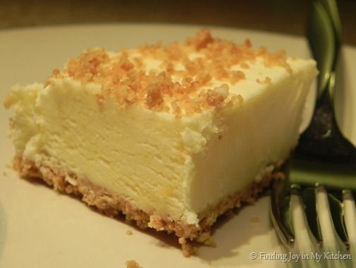 Frozen Lemon Tart - by Finding Joy in My Kitchen - Thinking this would be a great dessert to serve my Mom sometime.