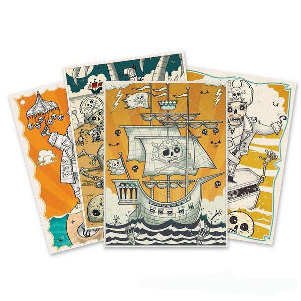 Kalóz színező- kreatív színező készlet fiúknak (Djeco)   Pandatanoda.hu Játék webáruház