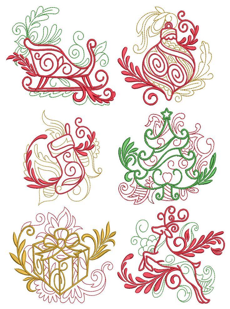 Elegant Christmas Motifs 1 Machine embroidery designs