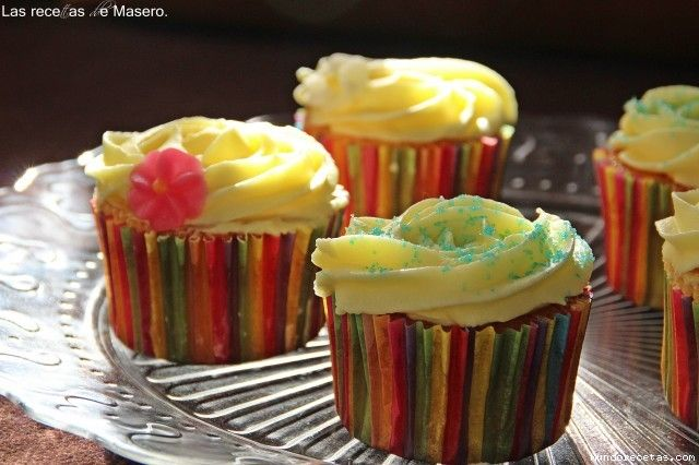 Cupcakes de limon (version Hummingbird Bakery)