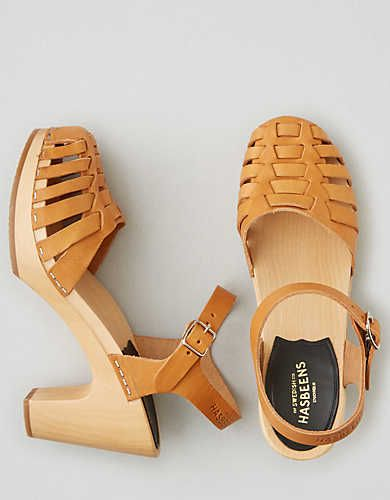Swedish Hasbeens Snake Sandal , Natural | American Eagle Outfitters