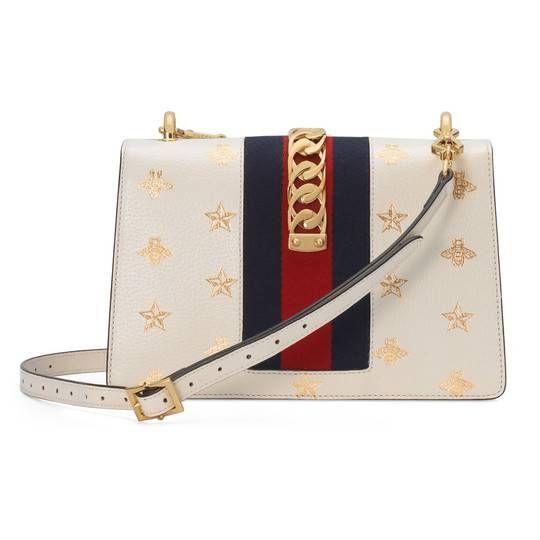 ac3efb40e7b GG Marmont mini round shoulder bag in White matelassé chevron leather with  heart