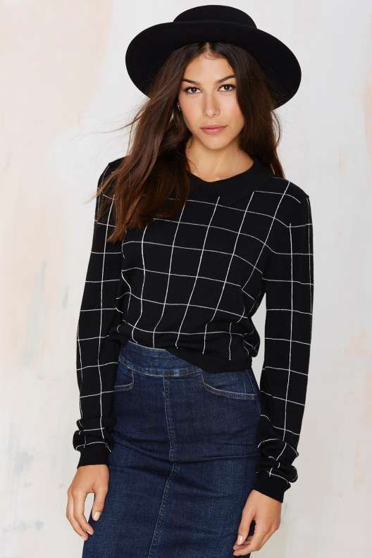 Nasty Gal Total Square Wool Sweater