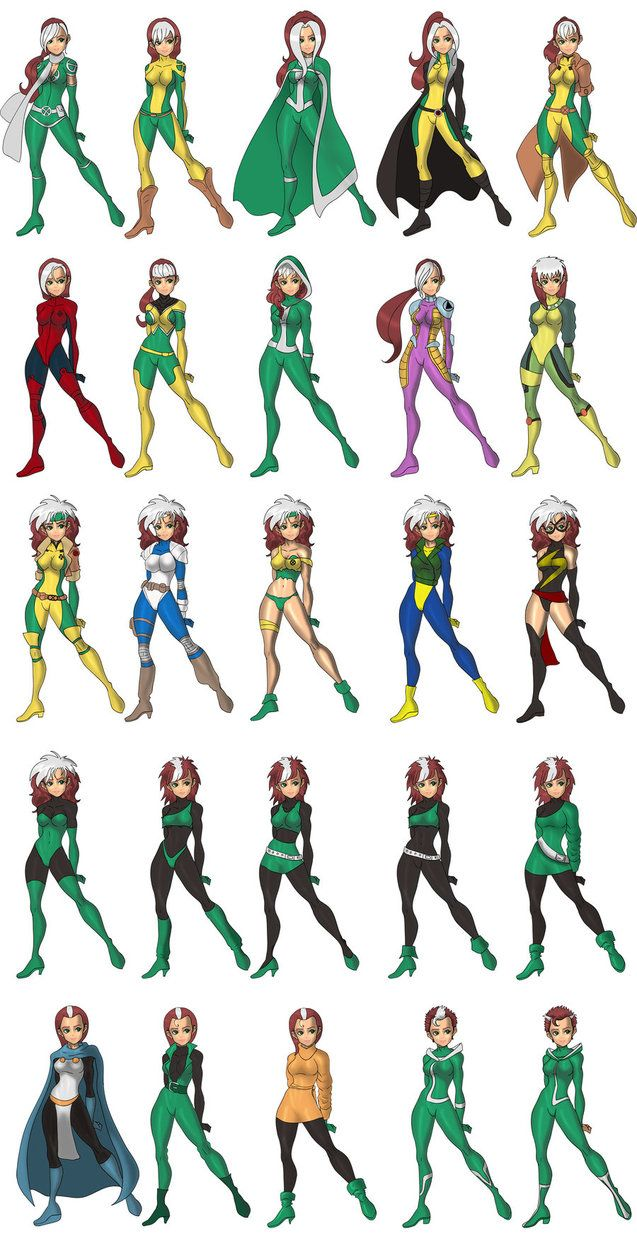 Rogue costumes by ~skyboy16 on deviantART