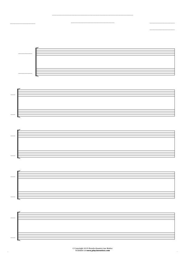 Free Blank Sheet Music sheet music by Jan Walter. Part: Score for 2 voices.