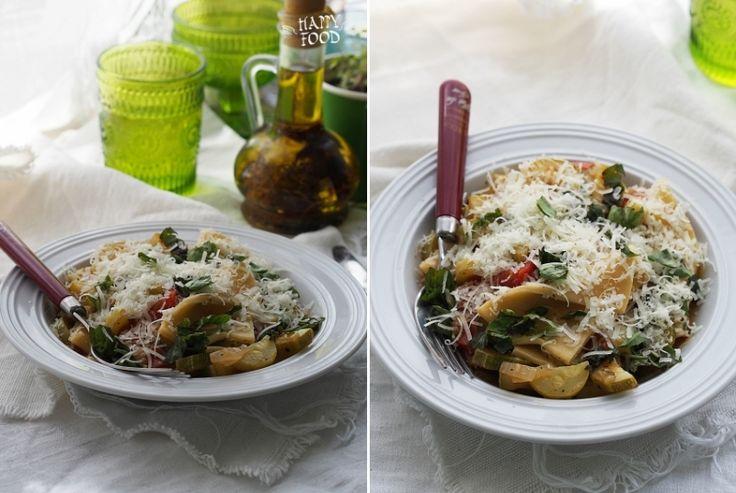 Фаццолетти (домашняя паста) с овощами