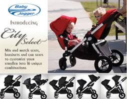 City Select Double Stroller. Out of all the strollers we have looked at, this one takes the cake! And you can order a footboard that attaches to the back for a third child to use as a sit/stand! Perfect for our family! Can't wait!