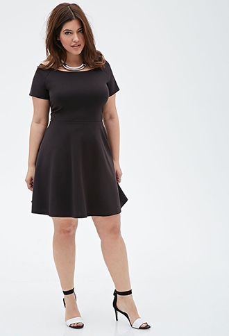 Fit & Flare Boat Neck Dress | FOREVER21 PLUS | #f21plus