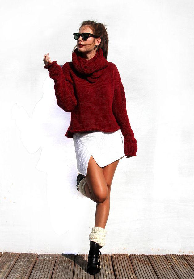 Beet Turtleneck Sweater - Alexandra-Milcarz - Swetry i bezrękawniki