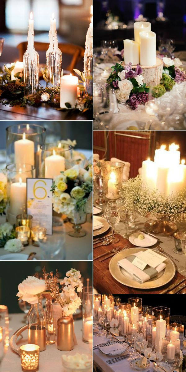 Stunning wedding ideas with candles centerpieces eye