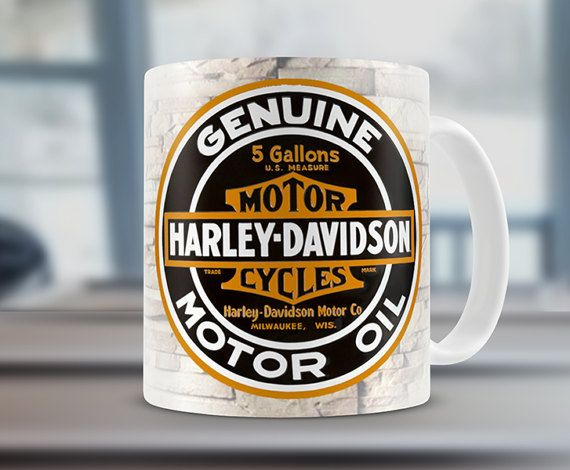 Harley Davidson oil inspired Gift Mug Ideal For by MugandMore