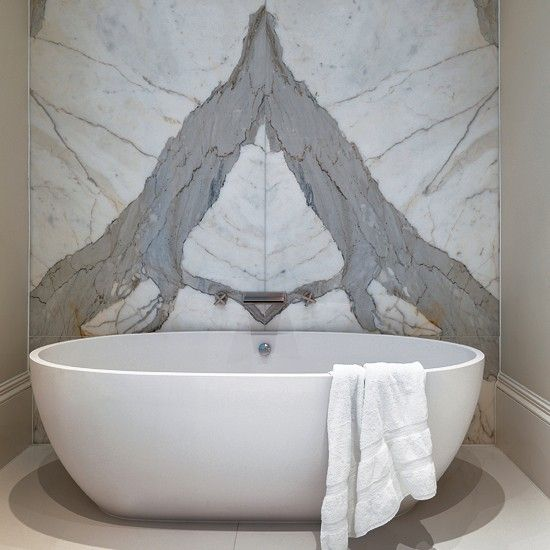 Marble bathroom from CP Hart | Nature-inspired bathroom ranges - 7 new designs | Bathrooms | Bathroom designs | PHOTO GALLERY | Housetohome.co.uk
