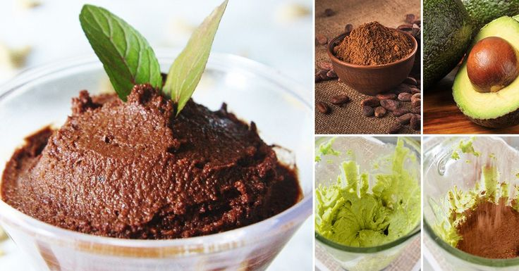 Mousse de aguacate y chocolate