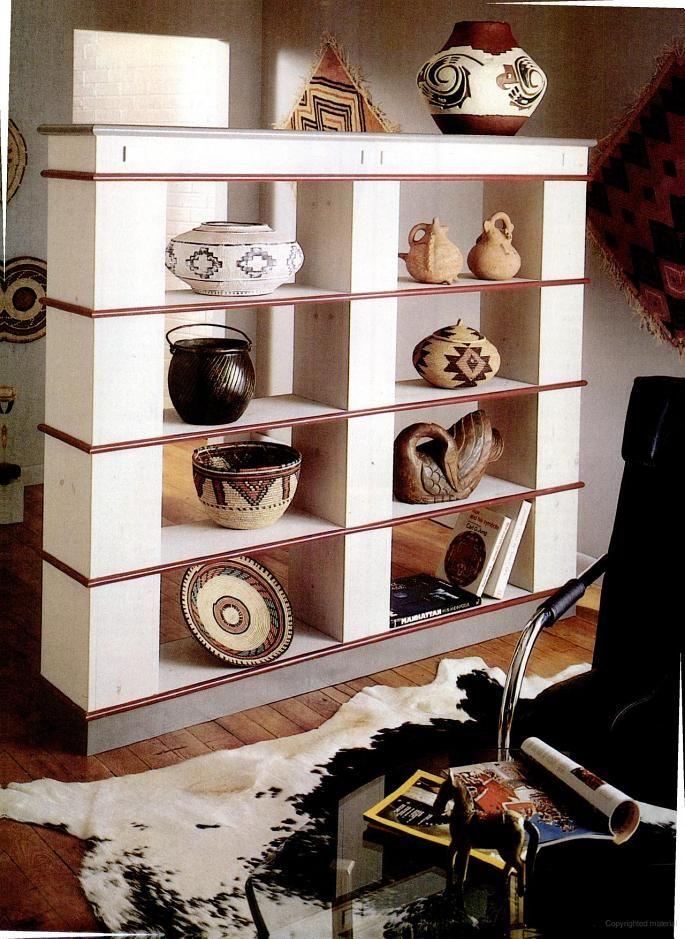 Plans For A Designer Bookcase Divider