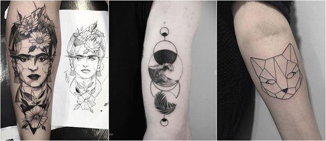 Inspiração | Tatuagens geométricas | Ô Morena