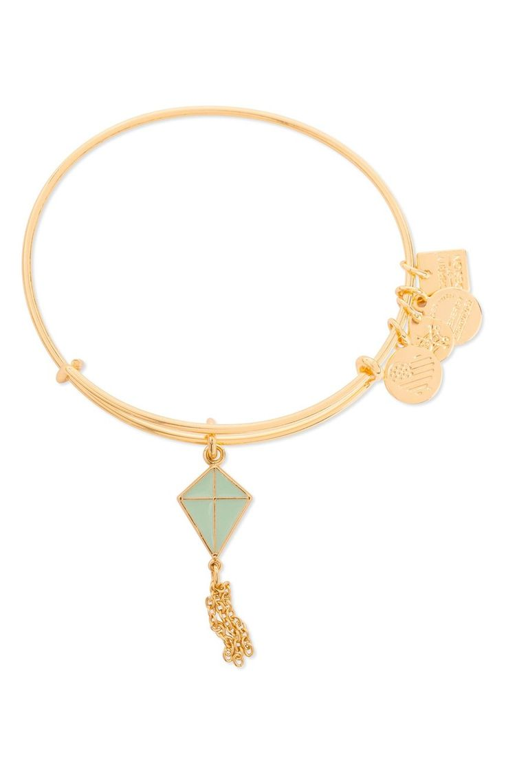 From Alex And Ani · A Playful Charm In The Shape Of A Freeflying Kite  Decorates This Slender Gold