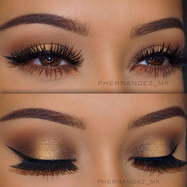 Perfect eye makeup for brown eyes! So exotic!!!