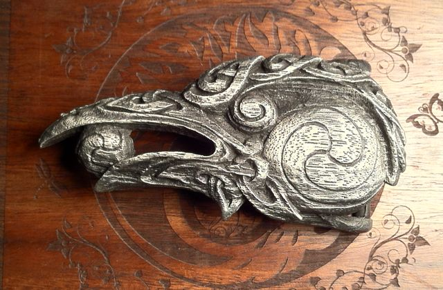 Raven Head Belt Buckle | Could this also be an expansion to the Thunderbird wine products line?