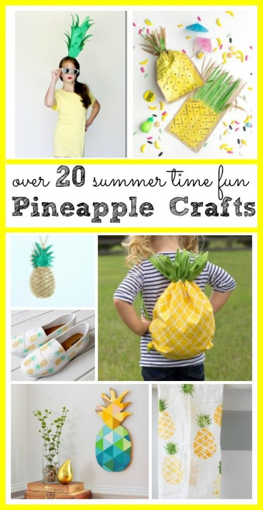 Pineapple Craft Roundup - so many fun pineapple craft ideas - love these!! Sugar Bee Crafts
