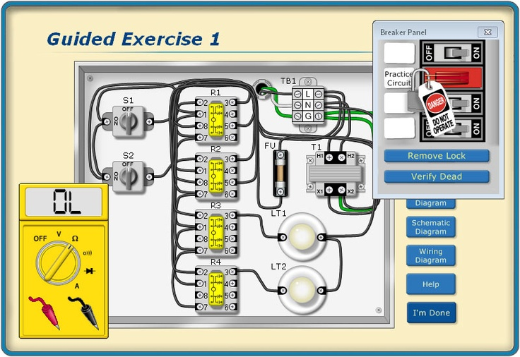 Get Experience with Practice Exercises in the  Troubleshooting Motor Circuits program (TMC) that is part of our V4 Electrical Troubleshooting Skills Series at http://www.bin95.com/electrical_software_downloads.htm