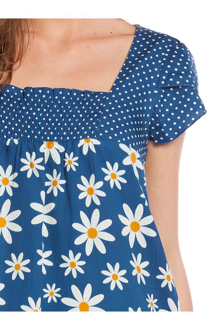 Vestido2 manga corta con estampado floral y lunares . - MUJER | Rosalita McGee #flores #minivestidoflores #estampadofloral #flowers #modaprimavera #springstyle #minidress