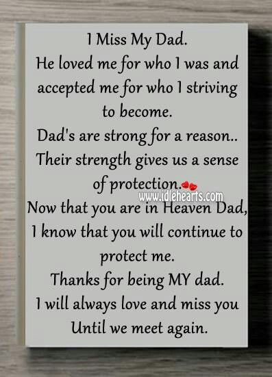 LOVE AND MISS YOU DAD RIP