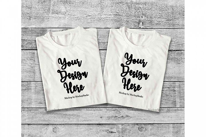 Download Two White Folded Tshirt Mock Up Double Top View Tees Mockup 197024 Clothing Design Bundles Shirt Mockup Mockup Free Psd Tshirt Mockup