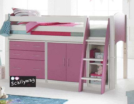 Scallywag mid sleeper cabin bed for kids image