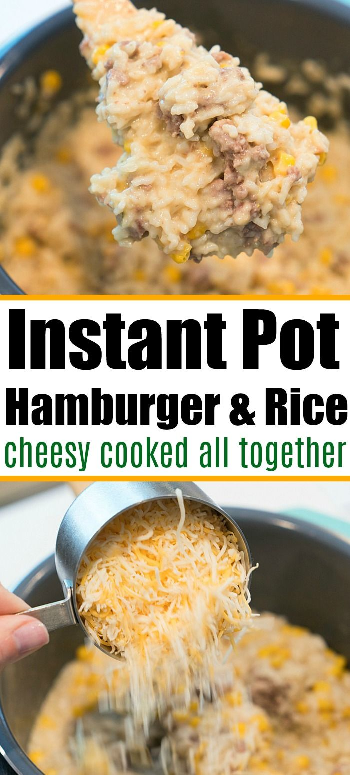 Instant Pot Ground Beef And Rice In 2020 Instant Pot Dinner Recipes Easy Instant Pot Recipes Hamburger And Rice Recipes