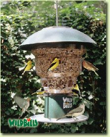 Anti Squirrel Bird Feeder a unique wild bird feeding station by Wild Bills from Natures Needs Inc
