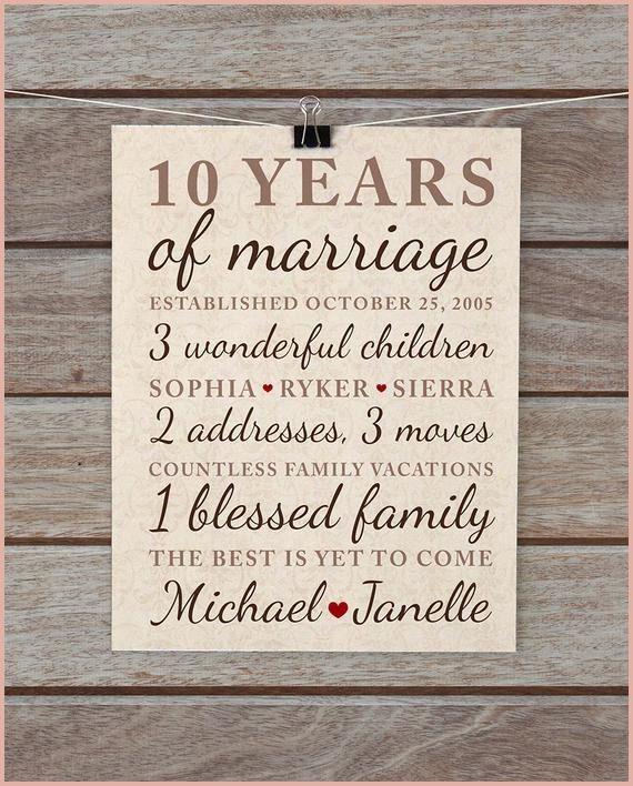 13 Terrific 10 Year Wedding Anniversary Gift 10 Year Wedding Anniversary Gift 10th Anniversary Gifts 10 Year Anniversary Gift