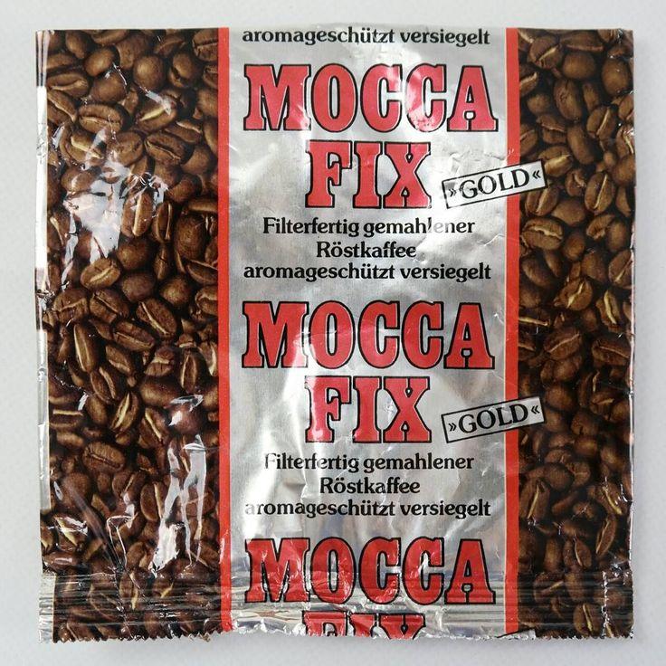 """Der Hersteller von MOCCA fix, Röstfein, entschied ab 1997 für die Wiedereinführung von traditionellen Kaffeesorten. So kamen MOCCA Fix, RONDO Melange, MONA und """"im nu"""" wieder auf den Markt, nachdem sie nach der Wiedervereinigung kurzzeitig verschwunden waren."""