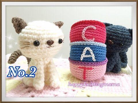 ねこのあみぐるみ②【初心者でも!】胴体の編み方を解説しています☆Crochet Cat☆