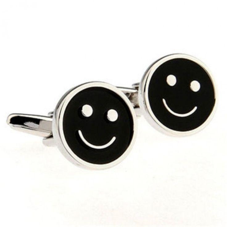 Black smiley face #Cufflinks #cufflinkspalace