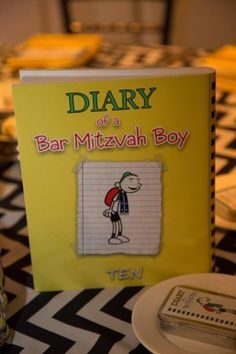 It Events creates a unique Bar Mitzvah theme: Diary of A Mitzvah Kid!