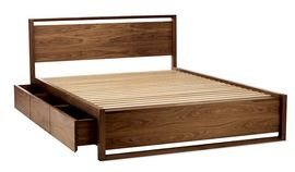 Matera Bed With Storage  Industrial, MidCentury  Modern, Wood, Bed by Design…