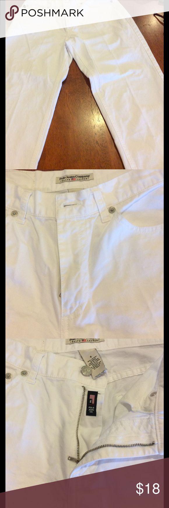 Polo Jeans Ralph Lauren White Capris Polo Jeans Company Ralph Lauren White jeans Capris size 6. Polo by Ralph Lauren Pants Capris