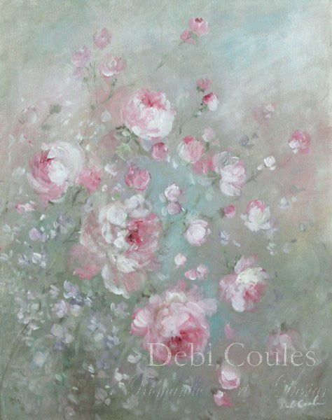 Summer's Roses  |  A collection of paintings by award winning Shabby Romantic Artist, Debi Coules.