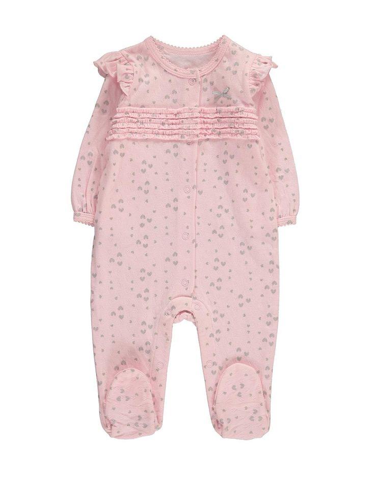Sparkle Frill Cotton Sleepsuit