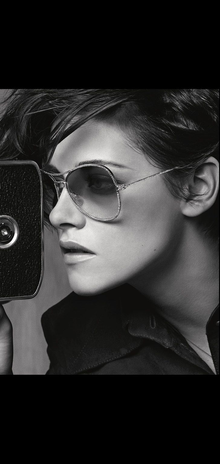 Want. Bad. Metal pilot sunglasses with... - CHANEL