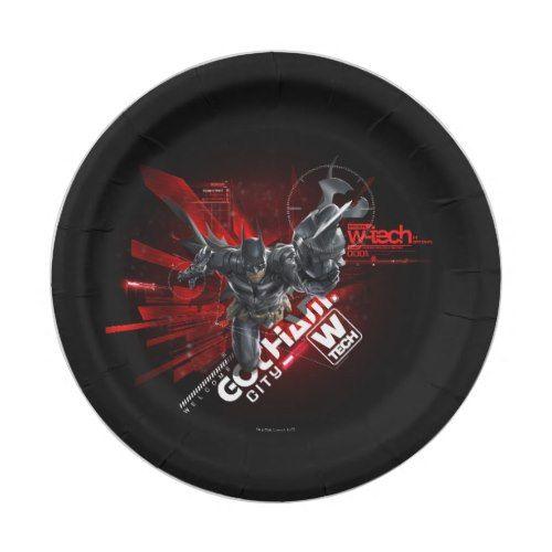 W-Tech Red Batman Graphic Paper Plate